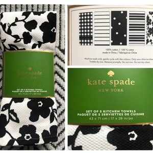 Kate Spade 5 pk Kitchen Dish Towels